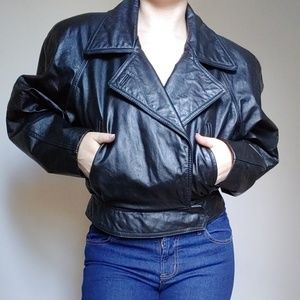 Wilson's Leather 80s cropped leather jacket